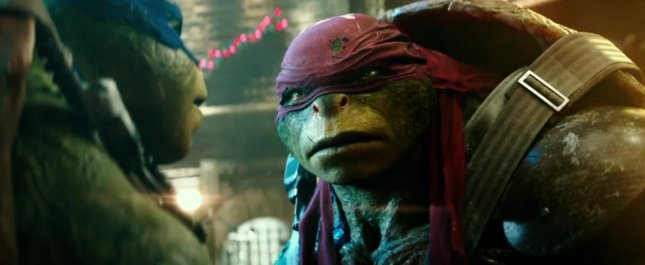 Leonardo and Raphael debating on whether or not to use a new formula that could turn them into humans in the second trailer for Teenage Mutant Ninja Turtles 2. Photo courtesy of Paramount Pictures/Youtube