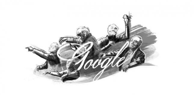 Google is paying homage to conductor Kurt Masur with a new Doodle. Image courtesy of Google