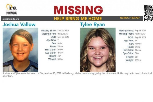 Authorities search for siblings Joshua and Tylee of Idaho after the mother and her new husband were found without them in Hawaii over the weekend. Photo courtesy of Rexburg Police Department.