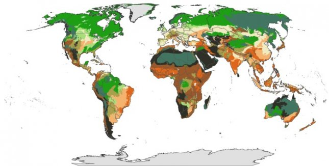 New Map Of Earth.Map Shows Areas Of Earth Needing Protection From Climate Change