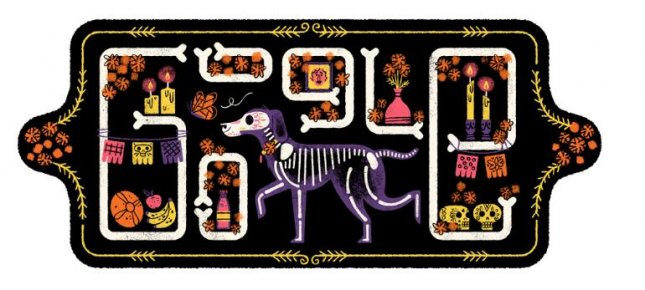 Google is honoring Mexico's Day of the Dead holiday with a new Doodle. Image courtesy of Google