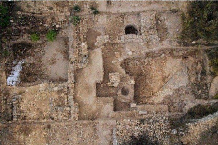 Temple ruins in Israel near Tel Motza. Credit: Israel Antiquities Authority