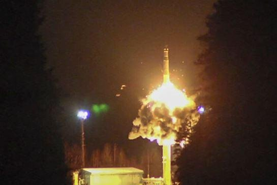 Russia's Strategic Missile Forces is pictured firing a ground-based Topol missile. Talks to continue the Strategic Arms Reduction Treaty between Russia and the United States began on Monday in Helsinki. Photo courtesy of the Russian Defense Ministry