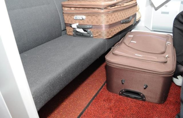 The luggage found to contain a Russian woman in her 30s. Photo courtesy Polish Border Guard