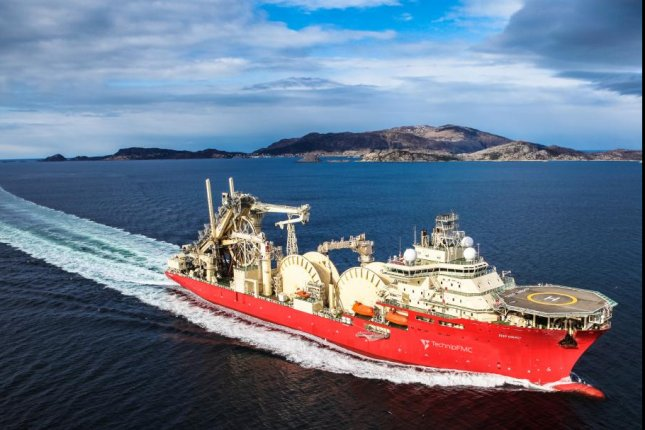 A vessel designed to lay pipeline is set for work in the oil-rich waters off the coast of Brazil. Photo courtesy of TechnipFMC