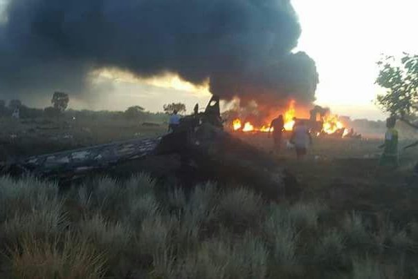 Five people died and one person has been hospitalized after an Aerosucre cargo Boeing 727 crashed following a failed takeoff from Puerto Carreño's Germán Olano Airport on Tuesday. Photo courtesy of Colombian Red Cross