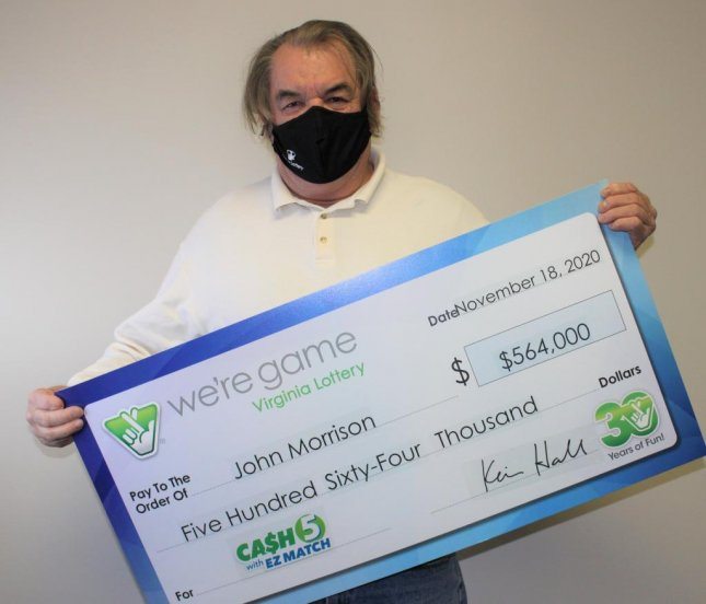 John Morrison of Amelia Courthouse, Va., said a desire for a chocolate shake led him to the store where he purchased a lottery ticket that won him more than $500,000. Photo courtesy of the Virginia Lottery