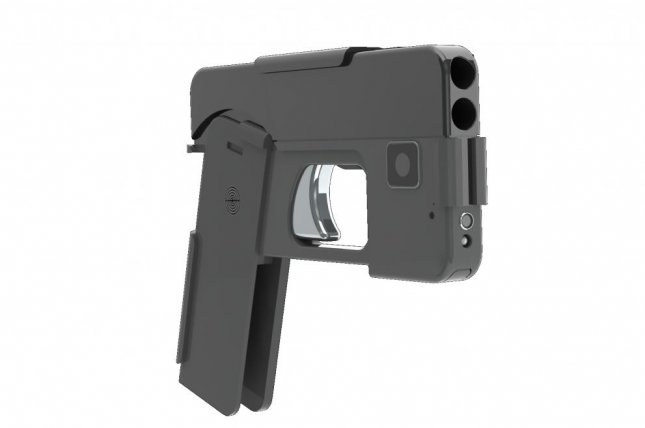 Minnesota start-up Ideal Conceal's concept for a gun that folds into a shape resembling a cellphone. Photo courtesy of Ideal Conceal