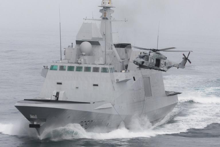 The French Navy FREMM frigate Aquitaine. U.S. Navy photo.
