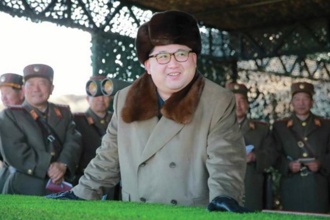 Kim Jong Un, shown in a recent appearance, has added nearly 100 pounds since 2012, Seoul's spy agency said Friday. File Photo by Rodong Sinmun