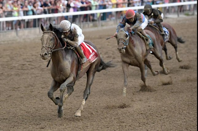 Yoshida, seen winning the Grade I Woodward at Saratoga in 2018, is the favorite to repeat in Saturday's renewal. Photo by Chelsea Durand, courtesy of New York Racing Association