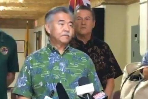 Hawaii Gov. David Ige addresses the media in Honolulu on Jan. 13 after a false missile alert said a missile was headed their way. Photo courtesy Governor David Ige/Facebook