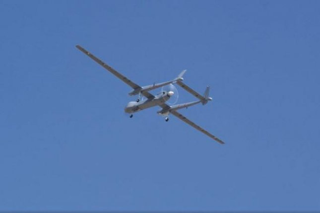 The Heron TP, an Israeli-made unmanned aerial vehicle built for the German Air Force completed its first flight on Sunday. Photo courtesy of Israel Aerospace Industries