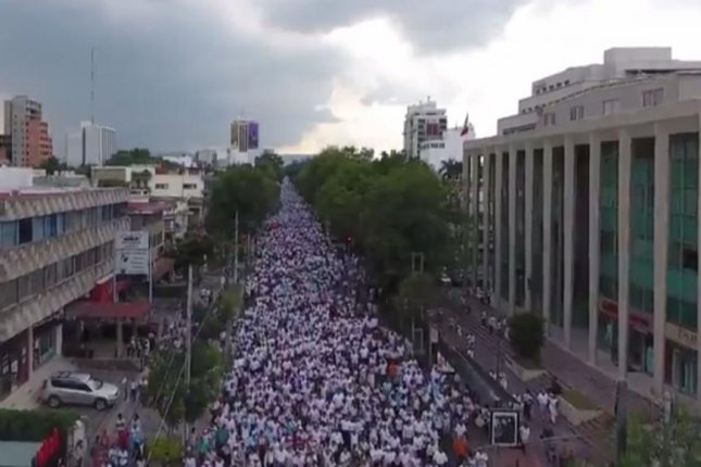 An estimated 250,000 marched in protest of Mexican President Enrique Pena Nieto's proposal to legalize gay marriage. Screenshot from National Front for the Family/Facebook
