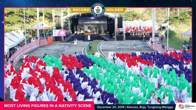 A city in the Philippines broke a Guinness record when 2,101 people participated in a Nativity scene. Photo courtesy of the SJDM Public Information Office