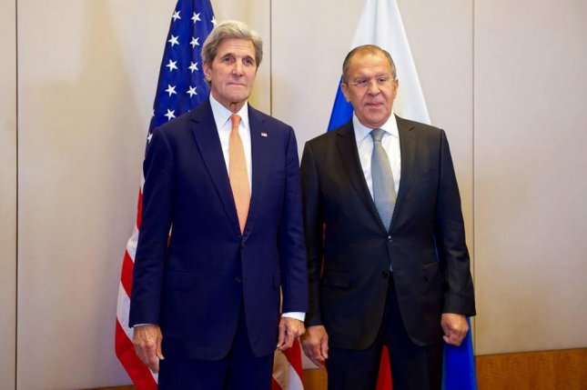 U.S. Secretary of State John F. Kerry and Russian Foreign Minister Sergey Lavrov meet at the Hotel President Wilson in Geneva, Switzerland, on Friday prior to the start of a a bilateral meeting focused on a new peace plan for civil war-torn Syria. Photo courtesy U.S. Department of State