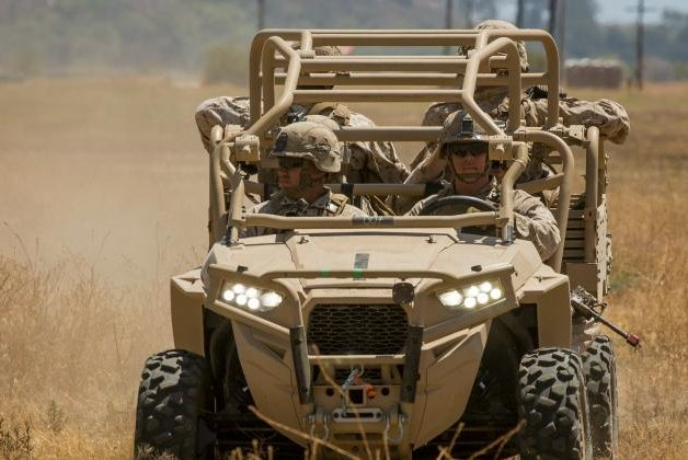 The Utility Task Vehicles are equipped with minimal armor to allow Marines to carry more ammunition, provisions, or injured personnel. U.S. Marine Corps photo by Lance Cpl. Rhita Daniel