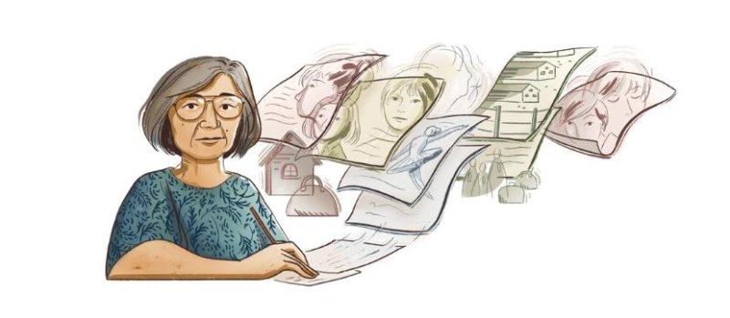 Google is paying homage to short story author Hisaye Yamamoto with a new Doodle. Image courtesy of Google