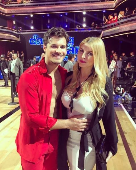 Gleb Savchenko and wife Elena Samodanova on Dancing with the Stars. The couple are expecting a second daughter in August. Photo by Elena Samodanova/Instagram