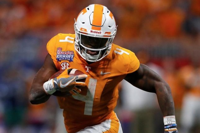 Tennessee running back John Kelly announced Friday that he will bypass his senior season and enter the NFL draft. Photo courtesy of SEC Network/Twitter