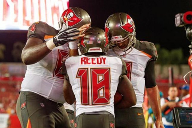 The New England Patriots promoted wide receiver Bernard Reedy to the active roster on Saturday. Photo courtesy of the Tampa Bay Buccaneers/Twitter