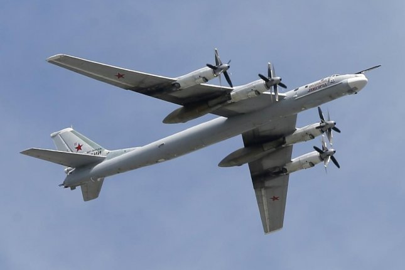 Russian strategic bombers, the Tupolev TU-95, trespassed South Korea's air defense zone on Friday. File Photo by Yuri Kochetkov/EPA
