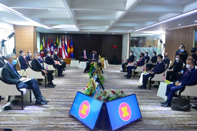 Southeast Asian leaders reached a Five-Point Consensus on Saturday on the Myanmar crisis at an Association of Southeast Asian Nations meeting. Photo courtesy of ASEAN