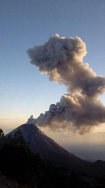 Mexican authorities have set up exclusion zones surrounding the Colima volcano following increased volcanic activity. An eruption early Tuesday created an ash plume about 1.5 miles tall. Photo courtesy of Jalisco State Unit of Civil Protection and Firemen