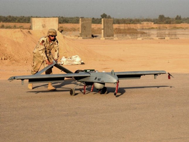 A Shadow UAV is prepared for a mission in Iraq. File Photo courtesy of the U.S. Army