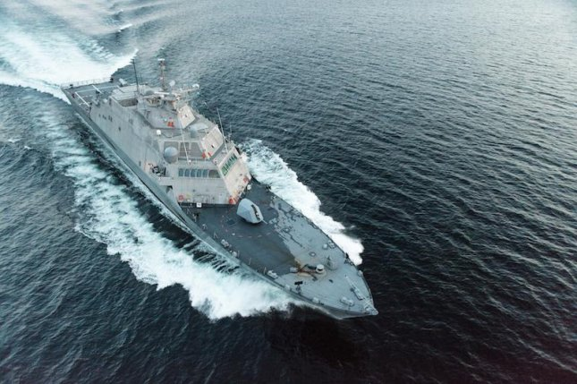 The future USS Little Rock, pictured during trials, was delivered to the U.S. Navy on Monday. Photo courtesy of Lockheed Martin