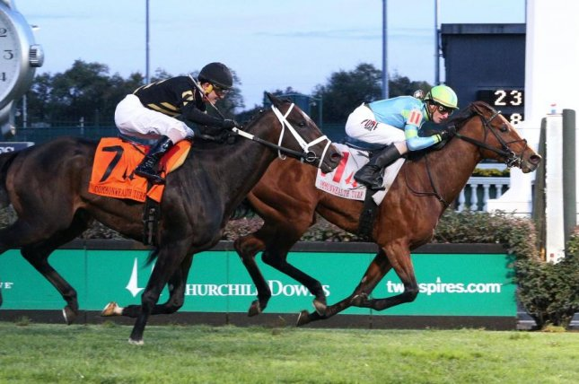 Mr Dumas springs the upset in Saturday's Commonwealth Cup on the Churchill Downs turf. Photo courtesy of Churchill Downs