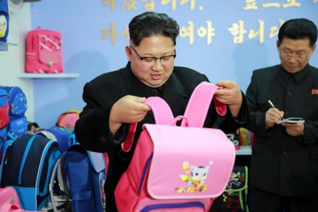 Backpacks are becoming a more familiar sight at North Korea university campuses, according to a Japan-based news report. File Photo by KCNA