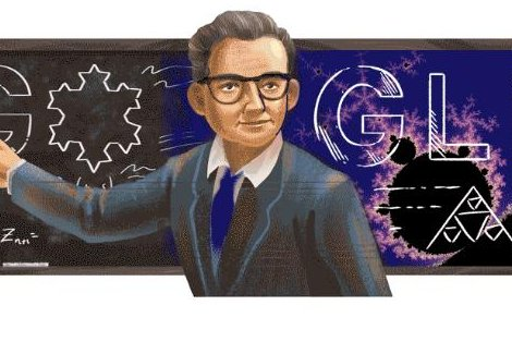 Google is paying homage to mathematician Benoit Mandelbrot with a new Doodle. Image courtesy of Google