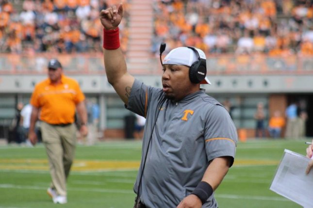 Tennessee Volunteers running backs coach Robert Gillespie (pictured) is leaving the school, multiple media outlets reported on Tuesday. Photo courtesy of Tennessee Vols Football/Twitter