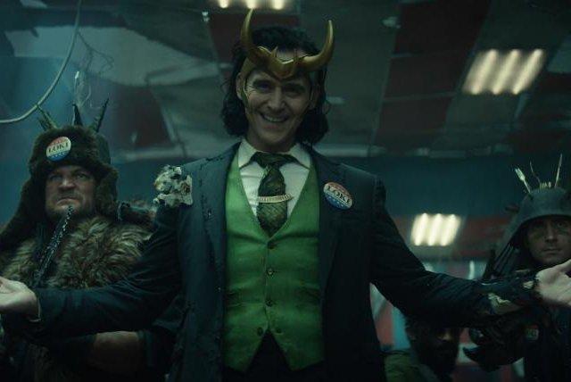 Loki (Tom Hiddleston, center) is back. Photo courtesy of Marvel