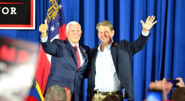 Brian Kemp (R) had strong backing from President Donald Trump and Vice President Mike Pence. Photo courtesy of Brian Kemp/Facebook