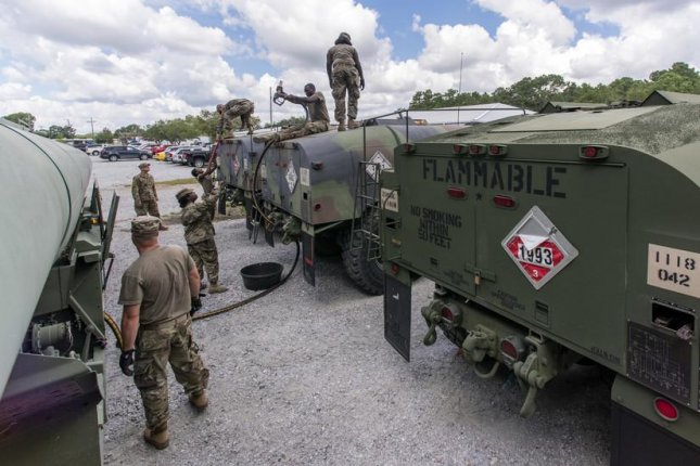 South Carolina National Guard troops mobilize ahead of the dangerous storm Hurricane Florence. Sgt. Brian Calhoun/South Carolina National Guard