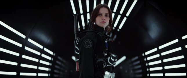 Felicity Jones in the first teaser trailer for Star Wars spinoff film, Rogue One: A Star Wars Story. Photo courtesy of Star Wars/Youtube