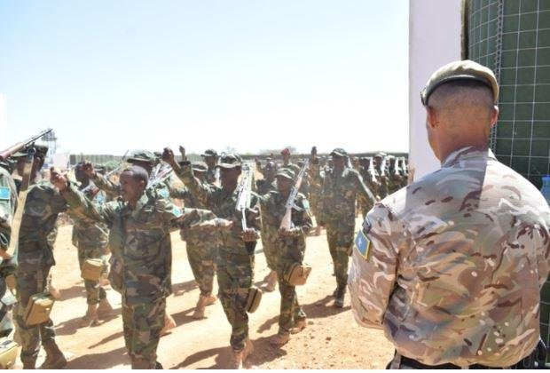 The British Ministry of Defense announced Friday that it has trained 500 Somali soldiers in infantry skills, and plans to double the number this year. Photo courtesy of the British Ministry of Defense