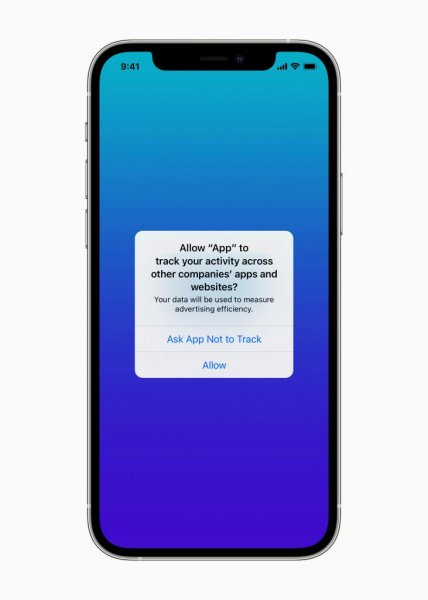 Apple announced Monday App Tracking Transparency, which requires apps to get a user's permission to track their activities for advertising purposes. Photo courtesy of Apple