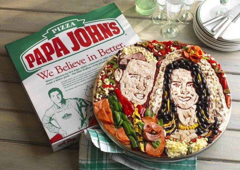 The royal pizza, courtesy of Papa John's.