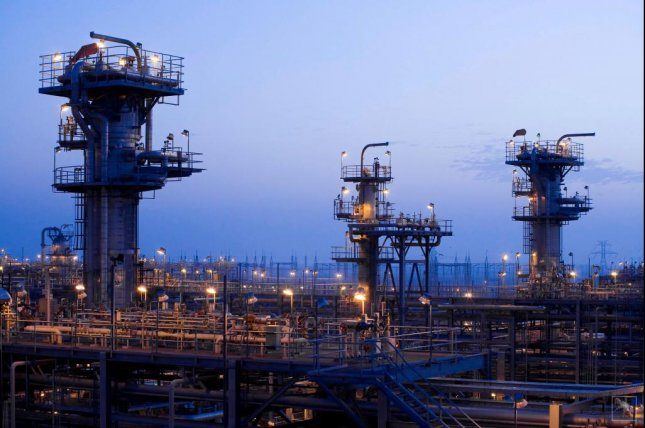 The Haradh gas plant, which is located on the southern end of the Ghawar oil field in eastern Saudi Arabia, is the world's largest onshore oil field. Photo courtesy Aramaco