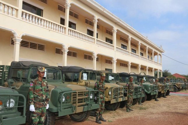 Cambodia received roughly 220 military trucks and engineering vehicles from South Korea in the third of four such planned deliveries, officials said. Photo courtesy of the Cambodian Ministry of Defense