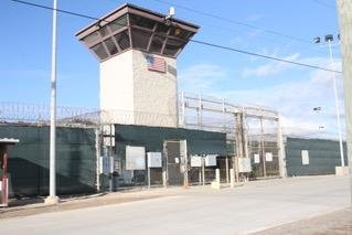 Gate to detention camps 5 and 6 at Guantanamo Bay U.S. naval base. Photo by Ricky Zipp/Medill News Service