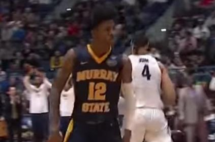 After a breakout season in which he led the country in assists and triple-doubles, and an upset win over Marquette in the NCAA tournament, Murray State sophomore guard Ja Morant is expected to announce he's entering the NBA draft. Photo by Youtube/NCAA March Madness
