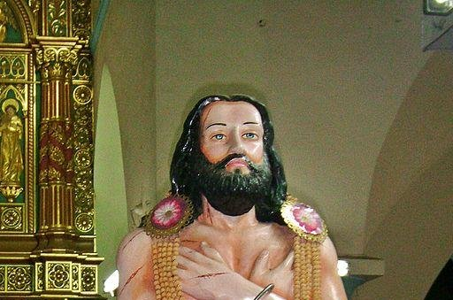 Devasahayam Pillai, depicted by a statue at St. Francis Xavier Cathedral in Nagercoil, India, was among two candidates Pope Francis cleared for sainthood Saturday. File photo by Kumbalam/Wikimedia Commons