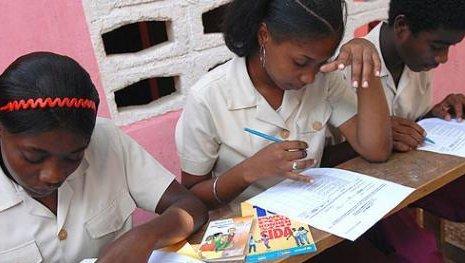 Girls in Haiti