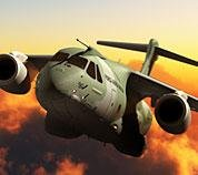 Embraer's KC-390 airlifter. (Image by Embraer)