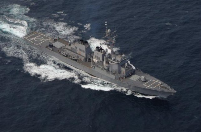 The destroyer USS Ross is en route to the Black Sea, the U.S. Navy said on Sunday. Photo courtesy of U.S. Navy