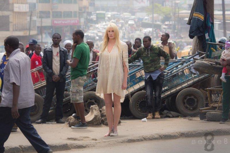 Daryl Hannah in a scene from Sense8 Season 1. Netflix